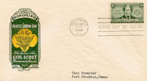 1948 United States Girl Scout FDC